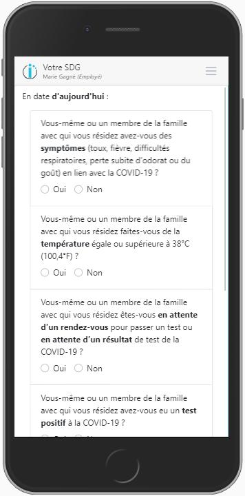 Questionnaire COVID-10-Tiempo