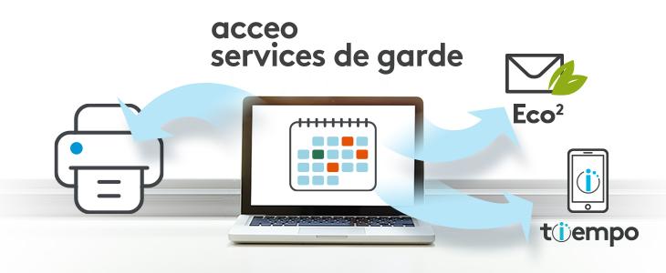 Pont comptable ACCEO Services de garde